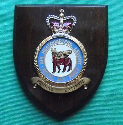 Old RAF Royal Air Force Levant Iraq HQ Station Crest Shield Plaque Badge