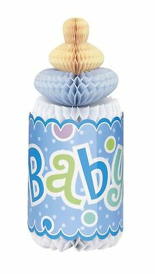 Baby Shower Party Decoration Supplies Partyware - Blue Dot Honeycomb Bottle