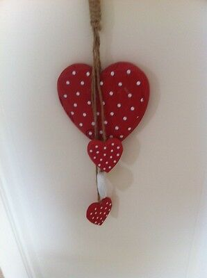 Bunch of Polka Dot Hearts Red
