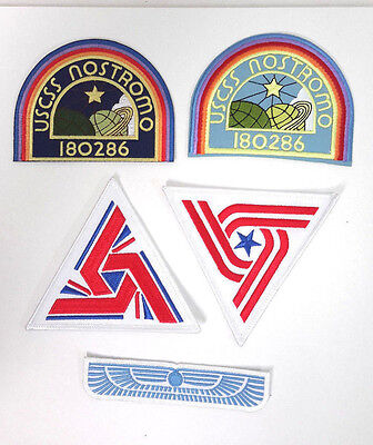 ALIEN Movie- USCSS Nostromo Deluxe Patch Set of 5-USA Mailed (ALPA-Set-5-Deluxe)