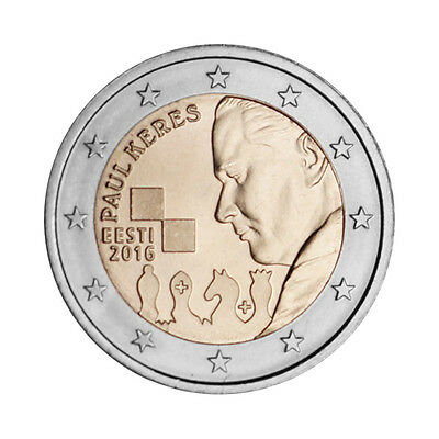 "Estonia 2 Euro commemorative coin 2016 - ""Paul Keres"" - UNC"