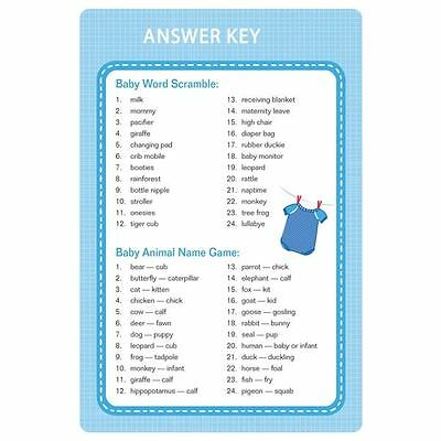 Baby Shower Party Supplies - Blue Shower With Love Boy Game Kit
