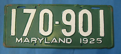 1925 Maryland License Plate older repaint