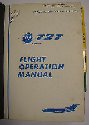 727 Trans International Airline (TIA) Original Flight Operation Manual