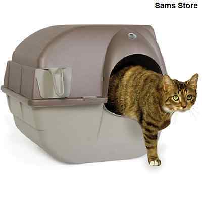 Self Clean Cat Litter Box Roll Hygienic No Mess Removable Tray Clumps Waste Pet