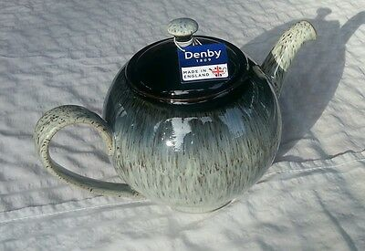 Denby Halo 1.13-qt. Teapot NWT Individually Handcrafted - Great Savings!