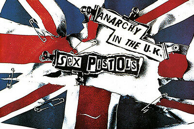Sex Pistols Anarchy In The UK Music Poster Print New 36x24