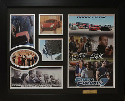 Fast and Furious 7 Limited Edition Signed Framed Memorabilia (b)