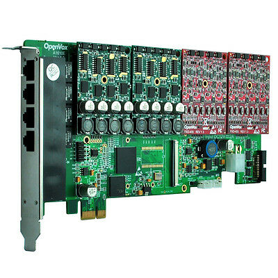 OpenVox A1610E00 16 Port Analog PCIe card base board (sin módulos) + SP143