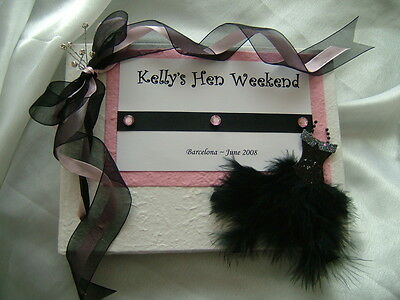 PERSONALISED HEN NIGHT / 18th 21st 30th BIRTHDAY GUEST BOOK / ALBUM - 50 PAGES