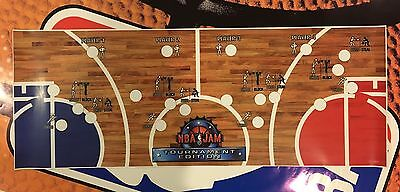 NBA Jam Tournament Edition Arcade Control Panel Overlay CPO Decal TE Midway