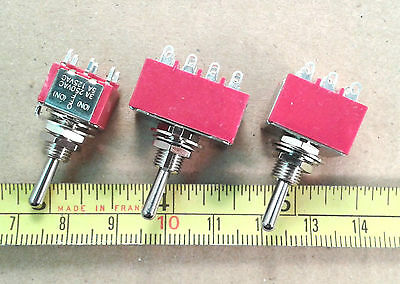 Toggle Switch 3A 250V with Silver Plated Contacts, Various Configurations