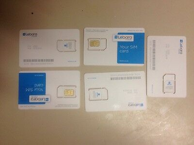 wholesale joblot 10 Lebara Sim Cards With £5 Preloaded Credit Get In Only 29,90