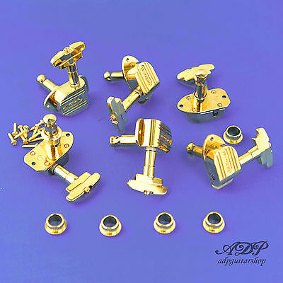 MECANIQUES 3x3 GROVER 150 IMPERIAL 16:1 THE archtop tuning machines Chrome Gold