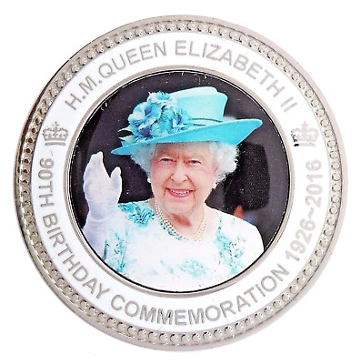 HM Queen Elizabeth II Ninetieth 90th Birthday Commemorative Coin Medal - Sleeved