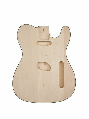 Telecaster guitar body natural unfinished with binding new