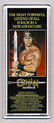 CONAN THE DESTROYER movie poster LARGE FRIDGE MAGNET - ARNIE CLASSIC!