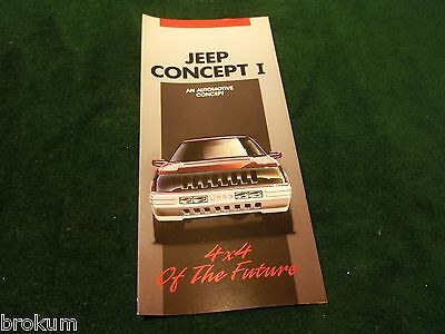 New 1989 Jeep Concept 1 1993 Grand Cherokee Original Sales Brochure Mint (Ng)