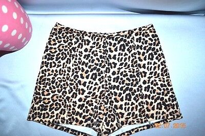 RARE Victorias Secret HTF Pink High Waisted PIN UP Leopard Cheeky Shorts NWT S