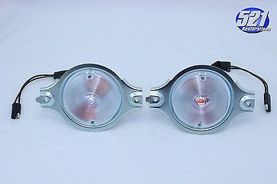 Mopar 1968 Dodge Dart Parking Turn Signal Light Assemblies Lenses Pair Set NEW