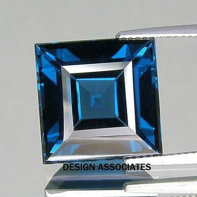 London Blue Topaz Natural  5 Mm Square Cut 1  Piece  Aaa