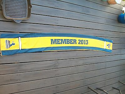 supporters scarf by brumbies member 2013 team rugby union gold colour