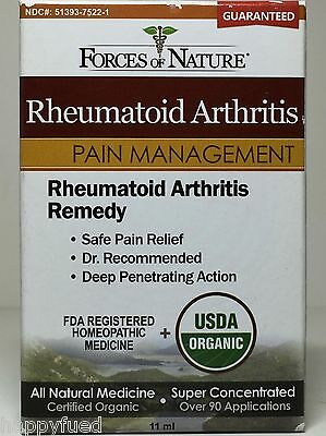 Rheumatoid Arthritis Pain Management Relief 11 mL 90 Apps Organic Forces Nature
