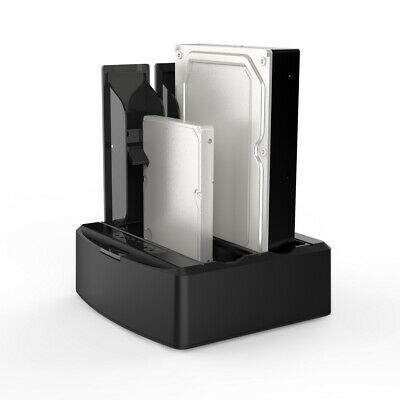 "USB 3.0 to DUAL Bay SATA Hard Drive Dock 3.5"" 2.5"" HDD Docking Aluminium (silve)"