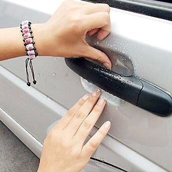 Clear Adhesive Car Door Handle Paint Scratch Protective Sticker