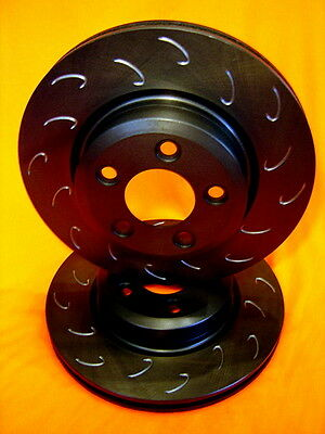 SLOTTED VMAX J HOOK Ford TERRITORY 2WD 4WD Front Disc Brake Rotors PAIR DR2107