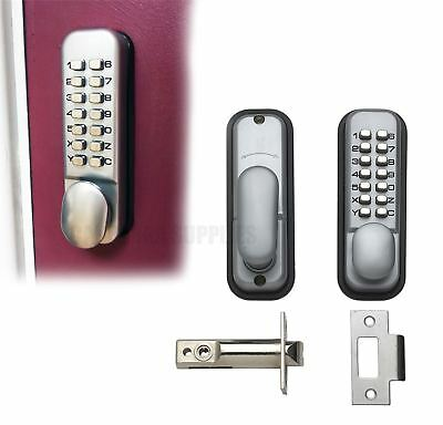 Briton Push Button Mechanical Digital Door Lock With Code Buttons Silver