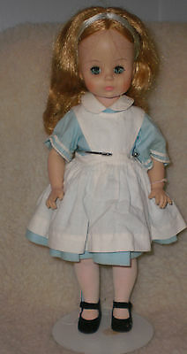 "VINTAGE MADAME ALEXANDER DOLL 13"" ALICE IN WONDERLAND #1552 with stand"