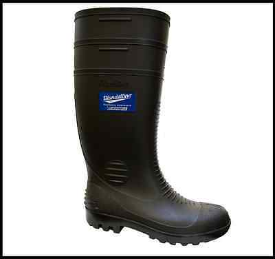 BLUNDSTONE BLACK GUMBOOT - soft toe - industrial quality - new