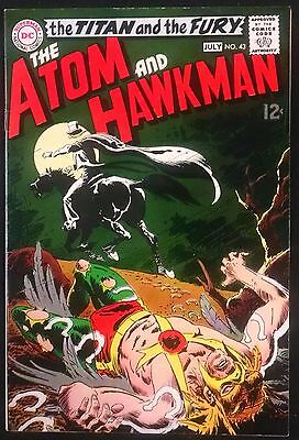 Atom+Hawkman 1969 #43 Sweet Vf+ 1St Appearance Of The Gentlemen Ghost Nice Book!
