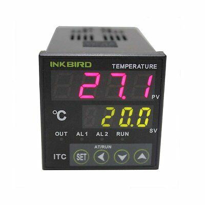220V Digital PID Temperature Control Controller Thermostat 2 Omron Relay Output