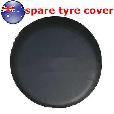 """AU Stock 16""""  Black Spare Tire Cover Wheel Tyre Covers for all Diameter 76~79cm"""