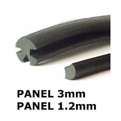 Small Rubber Window Seal (Claytonrite)  3mm x 1.2mm with filler strip