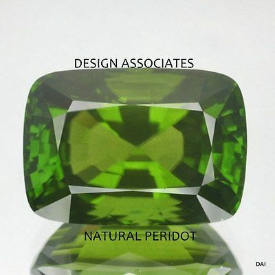 7X5 MM Cushion Cut Peridot   All Natural Without Treatment