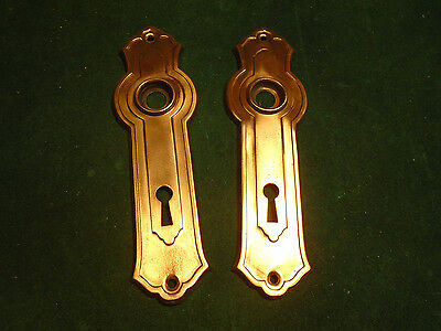 2 Salvaged Art Deco Brass Washed Backplates - Vintage  (2756-Op) • CAD $16.45