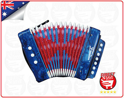 Kids Accordion Educational Musical Instrument Small 7 Treble 3 Bass Notes MA-218