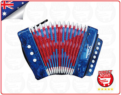 Accordion Educational Musical Instrument 17 Treble 8 Bass Notes UC104 - BLUE