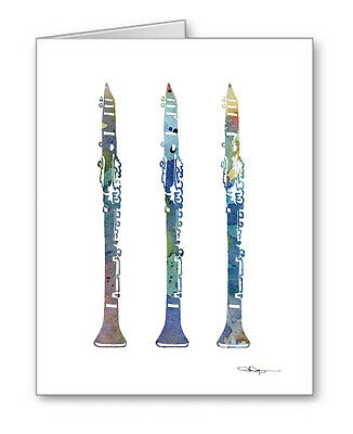 CLARINET Note Cards With Envelopes