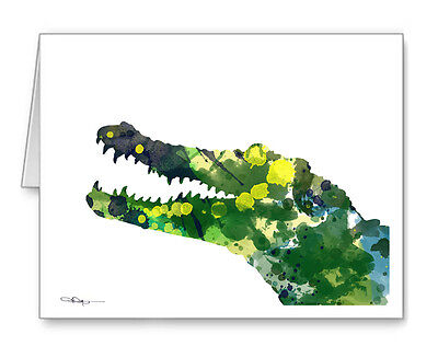 CROCODILE Note Cards With Envelopes