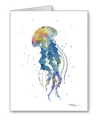 JELLYFISH Note Cards With Envelopes