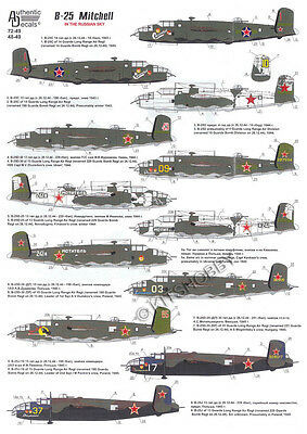 Authentic Decals 1/48 B-25 Mitchell In the Russian Sky