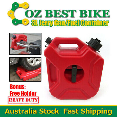 3L Jerry Can Fuel Container With Free Holder Spare Petrol Container Heavy Duty