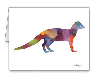 MONGOOSE Note Cards With Envelopes
