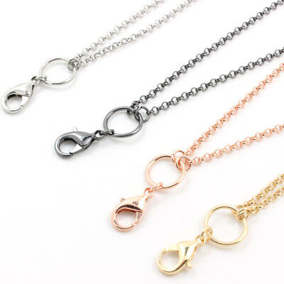 10pcs/lot 2.5mm width 30 inch 4 color rolo chain necklace for floating locket