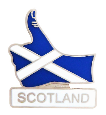 Scotland St Andrew's Saltire Thumbs Up Pin Badge - T1218