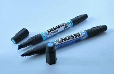 Eberhard Faber Design 2 Art Markers +50 *RARE* with Colorless Blender LIMITED***